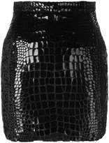 Saint Laurent scale effect 80's mini skirt
