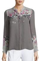 Elie Tahari Vivian Floral-Print Silk Blouse
