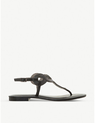Dune Lettie embellished leather sandals