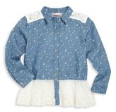 Design History Toddler's & Little Girl's Denim & Tulle Tunic