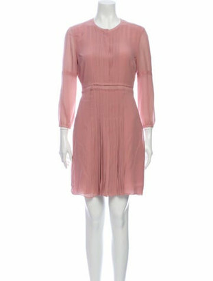 Burberry Silk Mini Dress Pink