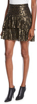 A.L.C. Baxter Tiered Metallic Ruffle Skirt