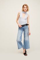 Mother Womens FRAYED ROLLER CROP