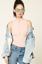 Forever 21 Cutout Mock Neck Bodysuit