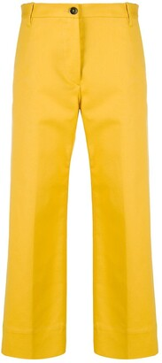 Nine In The Morning Cropped Straight Leg Trousers