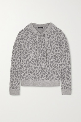 Rails Murray Leopard-print Brushed-jersey Hoodie - Gray