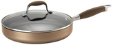 Anolon Advanced Bronze Round Grill Pan with Lid