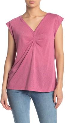 Bobeau Eloise Ruched Front T-Shirt