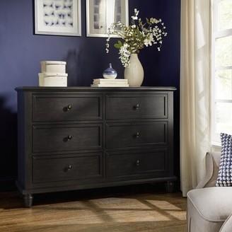Faught 6 Drawers Double Dresser Harriet Bee Color: Antique Black