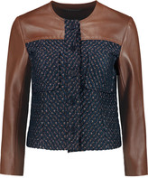 Theory Tieron jacquard and leather jacket