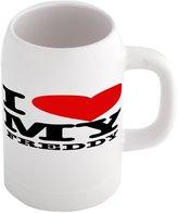 Fotomax Beer mug with I LOVE MY FREDDY