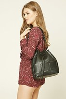 Forever 21 FOREVER 21+ Faux Leather Cutout Bucket Bag