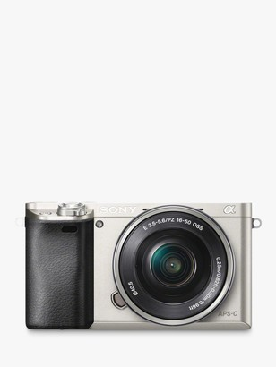 Sony A6000 Compact System Camera with 16-50mm OSS Lens, HD 1080p, 24.3MP, Wi-Fi, NFC, OLED EVF, 3 Tilting Screen