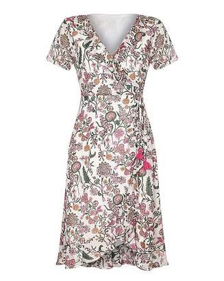 Yumi Curves Floral Print Wrap Dress