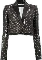 Haider Ackermann polka dot cropped blazer