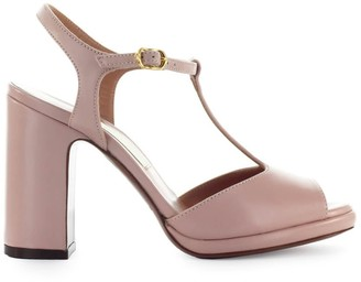 L'Autre Chose Powder Pink Leather Sandal
