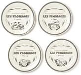 Gien Les Fromages Tidbit Plates, Set of 4