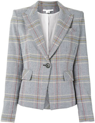 Veronica Beard Checked Fitted Blazer