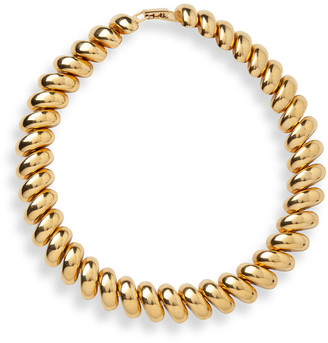 Jennifer Behr Gold Brass Collar Necklace