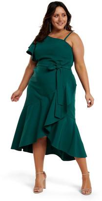 Forever New Olivia Asym One-Shoulder Curve Dress