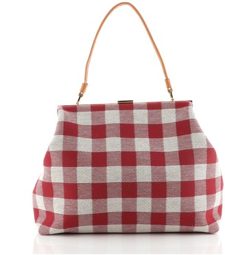Mansur Gavriel Soft Elegant Bag Gingham Canvas