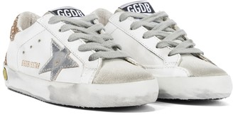 Golden Goose Kids Superstar leather sneakers