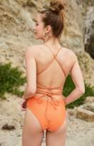 La Hearts Strappy Back One Piece Swimsuit