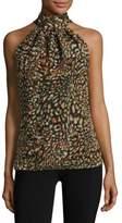 Ramy Brook Tanzania Printed Chiffon Silk Top