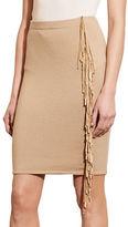 Lauren Ralph Lauren Suede-Fringed Pencil Skirt