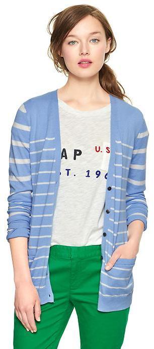 Gap Luxlight stripe V-neck cardigan