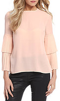 1 STATE Pleated Tier Sleeve Blouse