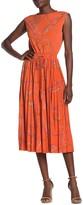 Donna Morgan Sleeveless Printed Jersey Midi Dress