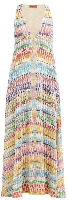 Missoni Mare - Zig Zag Tie Front Cotton Blend Knit Cover Up - Womens - Multi