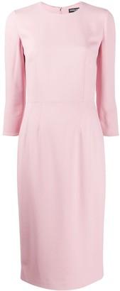 Dolce & Gabbana cropped sleeve dress