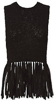 A.L.C. Bette Fringe Tank Top