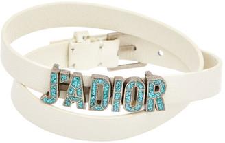 Christian Dior J'adior Double Wrap Leather Bracelet