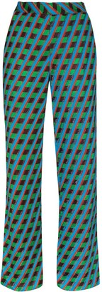 Wales Bonner Samba geometric-print trousers