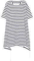 MM6 MAISON MARGIELA Striped Cotton-piqué Mini Dress - Indigo