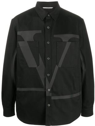 Valentino VLOGO printed denim shirt