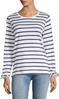 Joan Vass Women's Striped Long-Sleeve Top