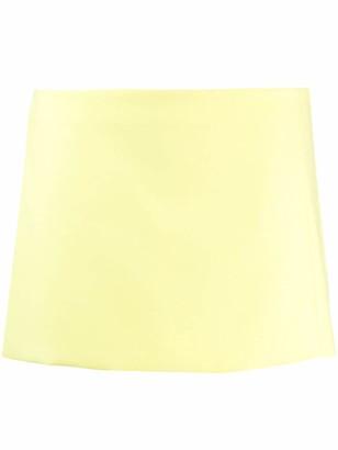 ATTICO low-rise straight mini skirt