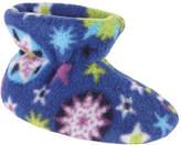 Acorn Infants/Toddlers Easy Bootie - Snowflake Royal Fleece Slippers