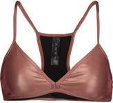 Koral Primary metallic stretch-jersey sports bra