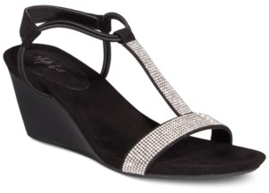 Style&Co. Style & Co Mulan 2 Embellished Evening Wedge Sandals, Created for Macy's Women's Shoes