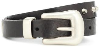 Golden Goose Fort Worth leather belt