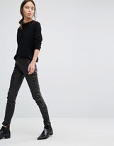 French Connection Leather Look Lace up Pants