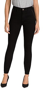 7 For All Mankind Jen7 by Stud Pocket Skinny Jeans in Black