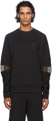 Fendi Black Forever Detail Sweatshirt