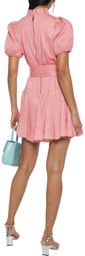 Thumbnail for your product : Alice + Olivia Mina Belted Burnout Crepe De Chine Mini Dress
