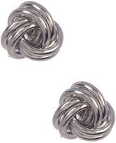 Candela Sterling Silver Love Knot Stud Earrings